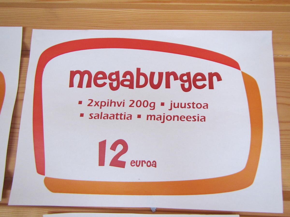Megaburger = 2 x JÄTTIBURGER