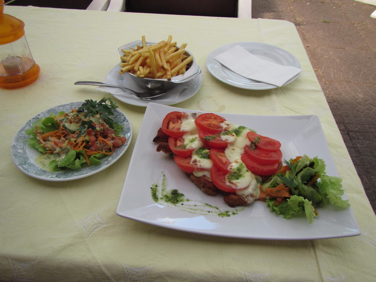 7 Euro mozzarella schnitzel