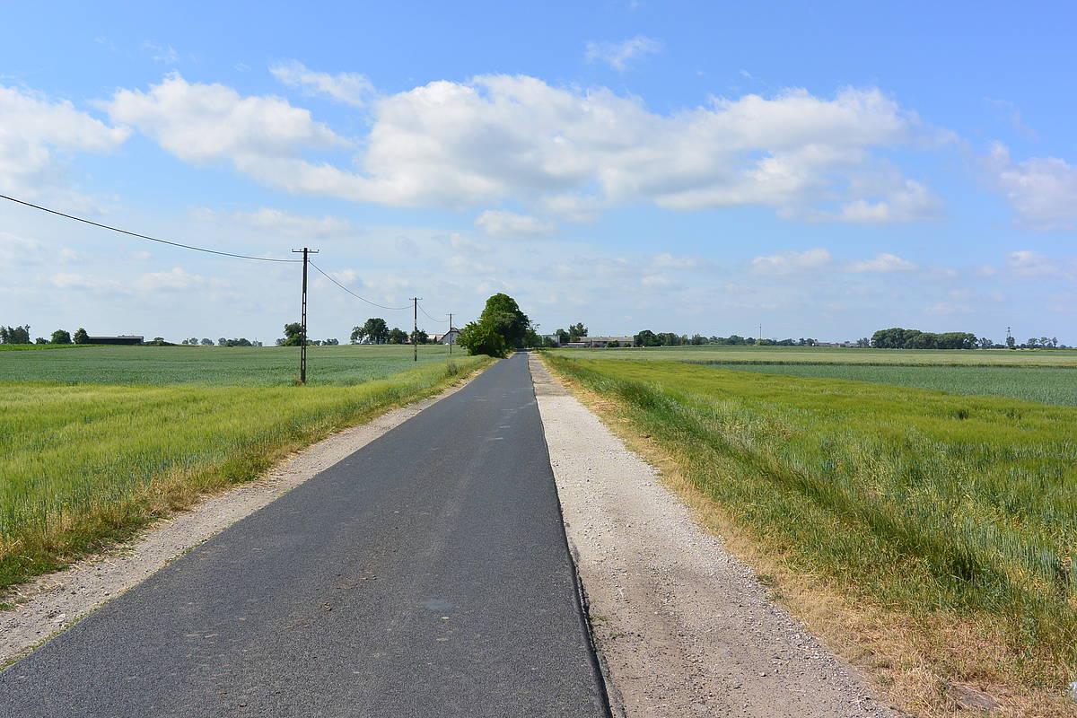 Half a road